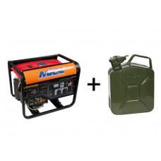 Бензиновий генератор MIOL 83-300 + каністра 5л (83-300 + 80-745)