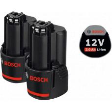 Аккумуляторная батарея Bosch 2 x GBA 12V 2.0 Ah Professional (1600Z00040)