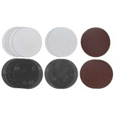 Абразивні круги для TE-DW 180 (15 шт. 10 шт. - Р80, 5 шт. - Р120) kwb Einhell (490965)