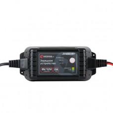 Зарядний пристрій 6/12В, 2А, 230В, максимальна ємність акумулятора, що заряджається 1.2-60 а/год INTERTOOL AT-3022