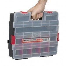 """Пластиковий органайзер для інструментів 14,5"""" 375*280*67мм INTERTOOL BX-4021"""