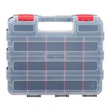 """Пластиковий двосторонній органайзер для інструментів 12,5"""" 320*270*80мм INTERTOOL BX-4022"""
