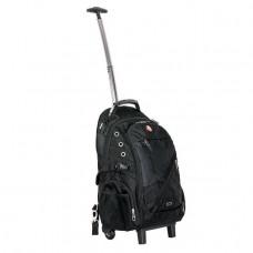 Рюкзак дорожный, 3 отделения, 30 л. на колесах с телескопической ручкой INTERTOOL BX-9024