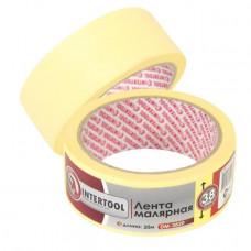 Лента малярная 38мм, 20м, желтая INTERTOOL DM-3820
