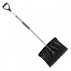 Лопата для уборки снега 460*340мм с Z-образной ручкой 1080 мм INTERTOOL FT-2023
