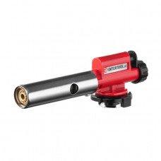 Пальник газовий, п'єзорозпал, регулятор, суцільнометалевий корпус. INTERTOOL GB-0027