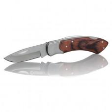Нож складной, ручка с деревянными вставками INTERTOOL HT-0594