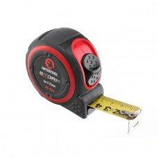 Рулетка с металлическим полотном 5м*25мм, нейлоновое покрытие полотна STORM INTERTOOL MT-0836