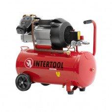 Компресор 100 л , 3 кВт , 220 В , 8 атм , 420 л / хв , 2 циліндра INTERTOOL PT - 0008  (PT-0008)