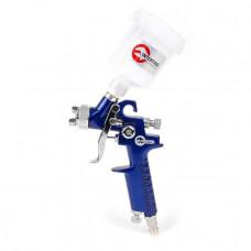 Фарбопульт пневматичний HVLP MINI, форсунка 1.0мм, верхній пластиковий бачок 125мл., 3бар INTERTOOL PT-0121