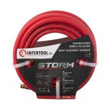 Шланг гибридный, профессиональный, 20 атм, 6*11мм, 10м с латунными быстроразъемными соединениями, STORM INTERTOOL PT-1761