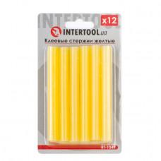 Комплект жовтих клейових стрижнів 11.2 мм*100мм, 12шт. INTERTOOL RT-1049