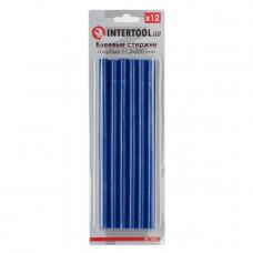 Комплект голубых клеевых стержней 11.2мм*200мм, 12шт. INTERTOOL RT-1053