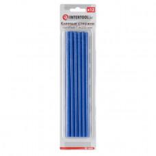 Комплект блакитних клейових стрижнів 7.4 мм*200мм, 12шт. INTERTOOL RT-1055