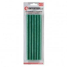 Комплект зелених клейових стрижнів 11.2 мм*200мм, 12шт. INTERTOOL RT-1057