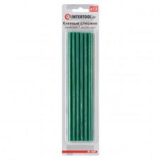 Комплект зелених клейових стрижнів 7.4 мм*200мм, 12шт. INTERTOOL RT-1059