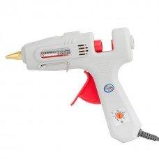 Пістолет клейовий 120(360)Вт, 230В, 100-220°C під стрижні 10.8-11.5 мм, 13-30 м/хв., рег. темп., вимикач. INTERTOOL RT-1107