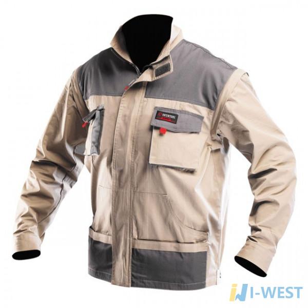 Куртка робоча 2 в 1 , 100 % бавовна , щільність 180 г / м2 , L INTERTOOL SP - 3033  (SP-3033)