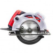 Пила дискова 1800Вт, 5000об/хв, кут 90-45, глибина розпилу 73-48мм, диск 210мм*30мм, 40 зубів, лазер INTERTOOL WT-0621