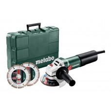 WEQ 1400-125 Set (600347510) Угловая шлифовальная машина Metabo