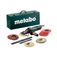 WEVF 10-125 Quick Inox Set (613080500) Угловые шлифовальные машине с плоским корпусом редуктора Metabo