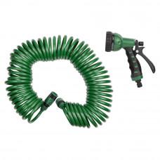 Набор поливочный: шланг спиральный 15м + пистолет распылитель 7-ми режимный Grad (5019075) SIGMA