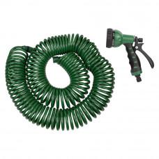 Набор поливочный: шланг спиральный 30м + пистолет распылитель 7-ми режимный Grad (5019085) SIGMA