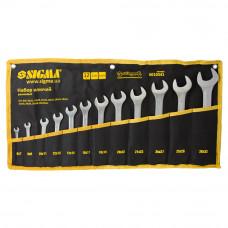 Ключи рожковые 12шт 6-32мм CrV satine (тк чехол) Sigma (6010341) SIGMA