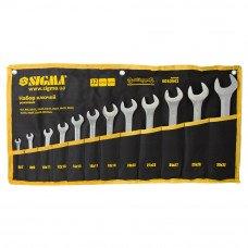Ключі ріжкові 12шт 6-32мм CrV satine (тк чохол) Sigma (6010341) SIGMA
