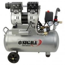 Компресор двоциліндровий безмасляний 1.1 кВт 154л/хв 8бар 30л Sigma (7042531) SIGMA
