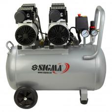 Компрессор четырехцилиндровый безмасляный 2.2кВт 308л/мин 8бар 50л Sigma (7042551) SIGMA