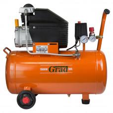 Компрессор одноцилиндровый 1.5кВт 198л/мин 8бар 50л (2 крана) Grad (7043545) SIGMA