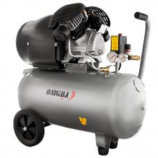 Компресор двоциліндровий 2.2 кВт 412л/хв 8бар 50л Sigma (7043711) SIGMA