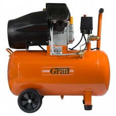Компрессор V 2.2кВт 386л/мин 8бар 50л (2 крана) Grad (7043935) SIGMA
