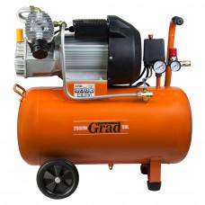 Компрессор V 2.5кВт 435л/мин 8бар 50л (2 крана) Grad (7043945) SIGMA
