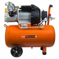 Компресор V 2.5 кВт 435л/хв 8бар 50л (2 крана) Grad (7043945) SIGMA