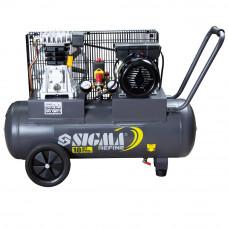 Компрессор ременной двухцилиндровый 2кВт 385л/мин 10бар 50л Sigma Refine (7044021) SIGMA