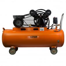 Компресор ремінною V 2.5 кВт 378л/хв 8бар 100л (2 крана) Grad (7044185) SIGMA