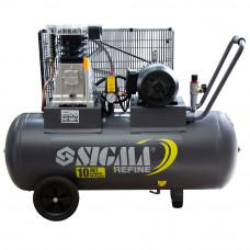 Компрессор ременной двухцилиндровый 380В 2.2кВт 508л/мин 10бар 100л Sigma Refine (7044211) SIGMA