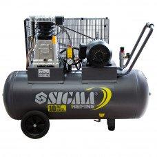 Компресор ремінною двоциліндровий 380В 2.2 кВт 508л/хв 10бар 100л Sigma Refine (7044211) SIGMA