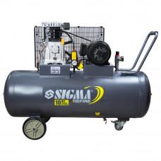 Компрессор ременной двухцилиндровый 380В 3кВт 550л/мин 10бар 150л Sigma Refine (7044231) SIGMA