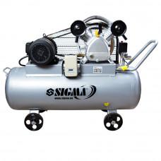 Компресор ремінною двоциліндровий 380В 4кВт 700л/хв 10бар 150л Sigma (7044631) SIGMA