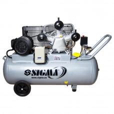 Компрессор ременной трехцилиндровый 380В 3кВт 610л/мин 10бар 135л Sigma (7044711) SIGMA