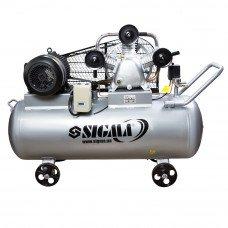 Компресор ремінною трициліндровий 380В 5.5 кВт 865л/хв 10бар 200л Sigma (7044761) SIGMA