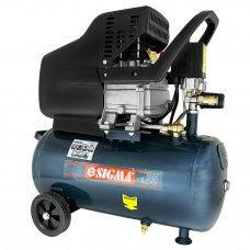 Компрессор однопоршневой прямоприводный Sigma 1.7кВт 25л 220л/мин Sigma (853125z) SIGMA