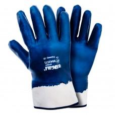 Перчатки трикотажные с нитриловым покрытием (синие краги) 120 пар Sigma (9443371) SIGMA