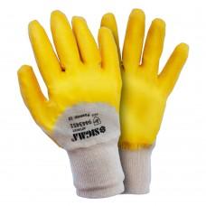 Перчатки трикотажные с нитриловым покрытием (желтые) 120 пар Sigma (9443451) SIGMA