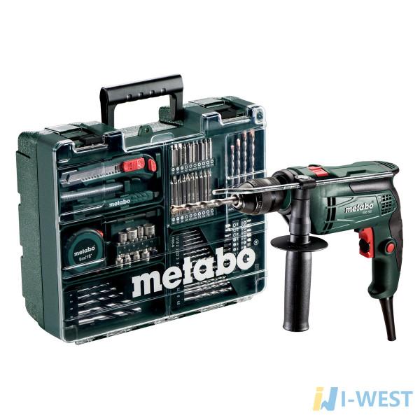 Дриль ударний Metabo SBE 650 + Набір приладдя (600671870)