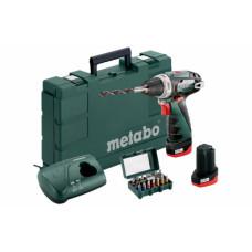 Аккумуляторная дрель-шуруповерт Metabo PowerMaxx BS Basic + BitBox 15 шт (690954000)