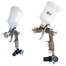 LVLP PROF фарборозпилювач 1,3 мм, з редуктором, пласт. в/бачок 600 мл, 2 атм INTERTOOL PT-0130